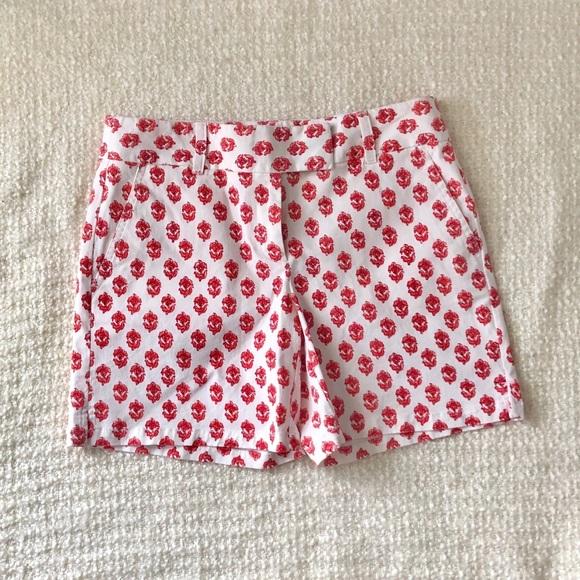 LOFT Pants - Ann Taylor loft white and red shorts